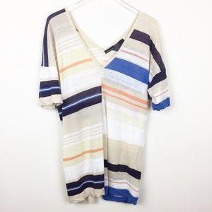 Moda International | Striped Linen Tunic Top